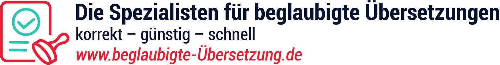 beglaubigte-übersetzung.de – korrekt, schnell, günstig