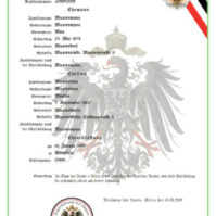 Personenstandsurkunde Uebersetzung beglaubigt
